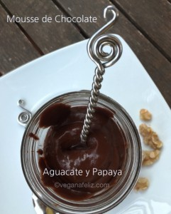Mousse de chocolate con aguacate